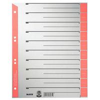 Leitz Intercalaires en carton Intercalaire - Gris,Rouge