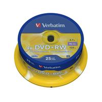 Verbatim DVD+RW Matt Silver (her)schrijfbare DVD