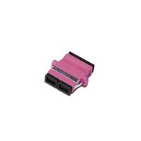 Digitus FO coupler, duplex, SC to SC, MM OM4, color violet ceramic sleeve, polymer housing, incl. screws .....
