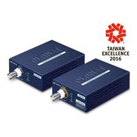 PLANET 1-Port Long Reach PoE over coax Extender Kit (LRP-101CH + LRP-101CE) Netwerk verlengers - Blauw