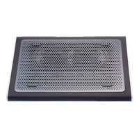 "Targus Cooling Pad 15-17"", Dual Fans, 1900RPM, Neoprene/Plastic, Black/Grey Laptop koelers - Zwart,Grijs"