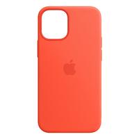 Apple iPhone 12 mini Silicone Case with MagSafe - Electric Orange - Oranje