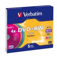 Verbatim DVD+RW Colours (her)schrijfbare DVD