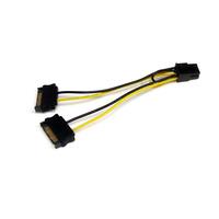 StarTech.com Câble adaptateur d'alimentation SATA vers carte vidéo PCI Express 6broches de 15cm - .....