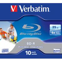 Verbatim BD-R SL 25GB 6x Printable 10 Pack Jewel Case Disques vierges Blu-Ray
