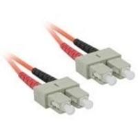 C2G 5m SC/SC LSZH Duplex 62.5/125 Multimode Fibre Patch Cable Fiber optic kabel - Oranje