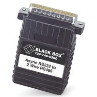 Black Box 1- DB25 female, 1- 4-screw terminal block Videoconverter - Zwart