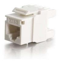 C2G Cat5E RJ45 UTP Keystone Jack - Blanc