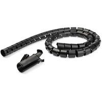 StarTech.com Gaine spirale range-câble Noir - 2,5 m - Diamètre de 25 mm