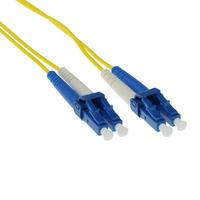 ACT LC-LC 9/125um OS1 Duplex 50m (RL9950) Fiber optic kabel - Geel