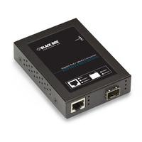 Black Box Convertisseur de média Gigabit PoE+ PSE avec SFP Convertisseur réseau média - Noir