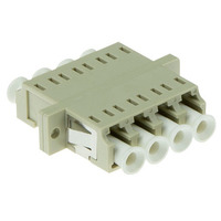 ACT LC quad, OM1/OM2, Beige Glasvezel-adapters - Wit