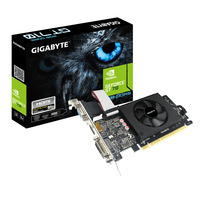 Gigabyte GeForce GT 710, PCI-E 2.0, 2GB GDDR5, 954 MHz, 5010 MHz, 64bit Carte graphique - Noir
