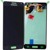 Samsung SM-G850F Galaxy Alpha, Complete Display LCD+Touchscreen, black Pièces de rechange de téléphones .....