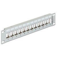 DeLOCK 43327 Patch panel accessoire - Grijs