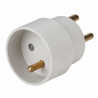 ProXtend Power plug adapter Type K plug toType E socket Fiche secteur / adaptateur - Blanc