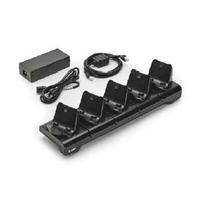 Zebra 5-Slot Docking Cradle, includes EU power cord Chargeur de batterie - Noir