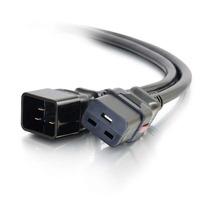 C2G C19/C20, F/M, 250 V, 15 A, 15AWG, 0.6 m Cordon d'alimentation - Noir