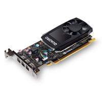 Fujitsu 2GB GDDR5, 64-bit, PCI Express 3.0 x16, CUDA 256, 3x mDP 1.4, 30W Carte graphique - Noir