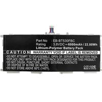 CoreParts Samsung Galaxy Tab 4 10.1, 3.8V, 25.84Wh, 6800mAh - Blanc