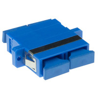 ACT Fiber optic SC duplex adapter singlemode OS2 Adaptateurs de fibres optiques - Bleu