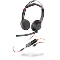POLY Blackwire 5220 - Zwart,Rood Headset - Zwart, Rood