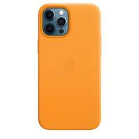 Apple Coque en cuir avec MagSafe pour iPhone 12 Pro Max - Pavot de Californie - Orange
