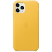 Apple Coque en cuir pour iPhone 11 Pro Citron Meyer - Jaune