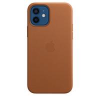 Apple Leren hoesje met MagSafe voor iPhone 12 | 12 Pro - Zadelbruin