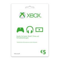 Microsoft Xbox LIVE Gift Card 5€ Cadeaubon