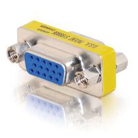C2G HD15 VGA F/F Mini verloopstuk (koppelstuk) Kabel adapter - Zilver