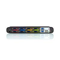 Belkin 4-poorts OmniView SOHO KVM-switch met audio-ondersteuning KVM switch - Zwart