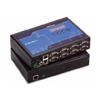 Moxa 8-port RS-232/422/485 desktop device server with DB9 male connectors, 48 VDC Seriële server
