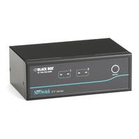 Black Box Dual-Head DT DVI USB, 2-Port KVM switch - Zwart