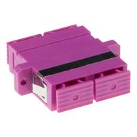 ACT Fiber optic SC-SC duplex adapter OM4 Adaptateurs de fibres optiques - Violet