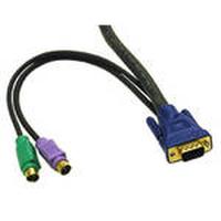 C2G 3m KVM Cable HD15 VGA M/M Câbles KVM - Noir