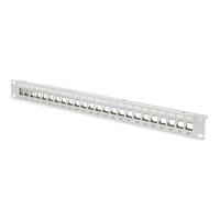 Digitus Modular Patch Panel, shielded 24-port, blank, 1U, rack mount, grey RAL 7035 Patchpaneel - Grijs