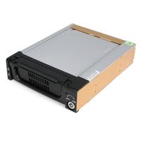 StarTech.com Zwarte Aluminum 5,25 inch Robuuste SATA Harde Schijf Mobile Rack Lade Drive bay paneel