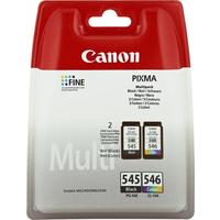 Canon PG-545XL/CL546XL Inktcartridge - Zwart, Cyaan, Geel, Magenta