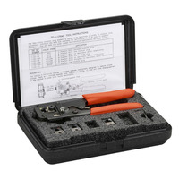 Black Box Universal RJ Tool Kit Krimp-, knip- en striptang voor kabels - Zwart,Oranje