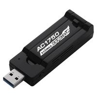 Edimax Wi-Fi, USB 3.0, 2.4/5 GHz, 802.11ac, 3T3R MIMO, 64/128-bit WEP, WPA, WPA2, WPS Netwerkkaart - Zwart