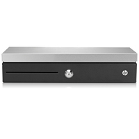 HP Tiroir caisse à ouverture verticale Coffret argent - Noir,Argent