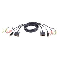 Aten Câble KVM DVI-I USB Single Link 1,8m Câbles KVM - Noir