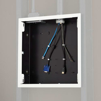 Chief Large In-Wall Storage Box with White Flange - Noir