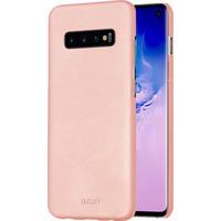 Azuri Metallic cover met soft touch coating - roze - voor Samsung Galaxy S10