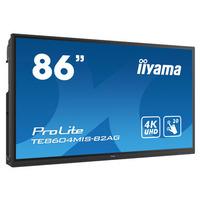 Iiyama 86'', 4K, 3840 x 2160, 400 cd/m², LCD, Touchscreen, 1200:1, 8ms, HDMI x3, USB-C x1, VGA x1 .....