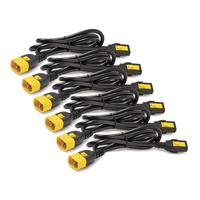 APC Power Cord Kit (6 ea), Locking, C13 TO C14, 0.6m, Blue Electriciteitssnoer - Blauw