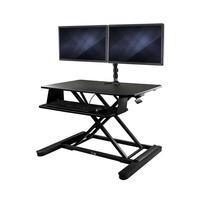 StarTech.com Dual monitor zit-sta werkplek bureau-converter 89 cm breed werkblad - Zwart