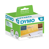 DYMO LW - Large Address Labels - 36 x 89 mm - S0722410 Etiket - Transparant