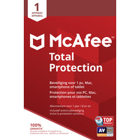 McAfee Total Protection, 1 Device (Dutch / French) Databeveiligingssoftware